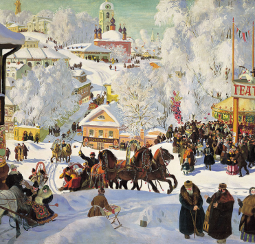 Painting of Square in Russia