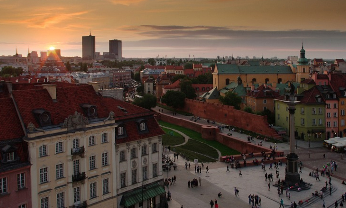 Photo: Sunrise in Warsaw, Poland