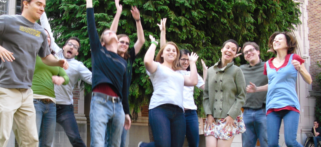 Students in intensive first-year-Russian course jump for joy