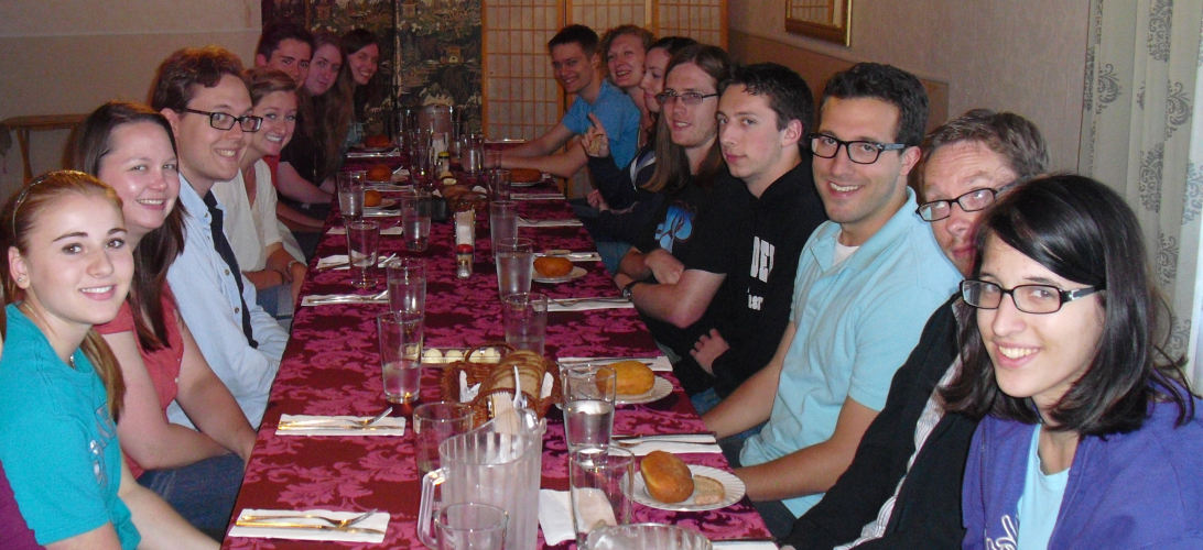 Students enjoy meal at local Russian restaurant