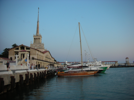 Boats at port in Sochi, Russia