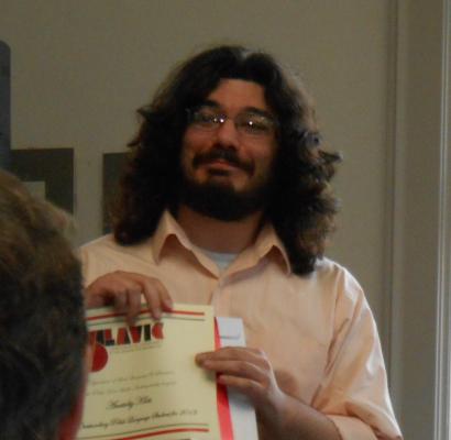 Anatoliy Klots awarded this year's best Polish language student.