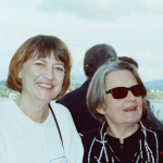 Kat Dziwirek with Agnieszka Holland