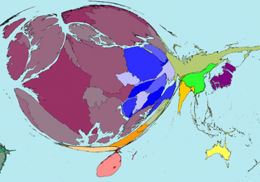 Image of Map Showing Nobel Prize Winners