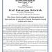 Flyer about Prof. Katarzyna Dziwirek's talk